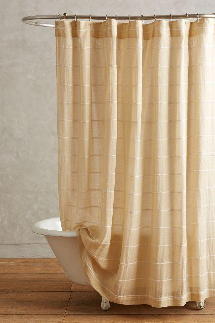 Masula Bronze Shower Curtain