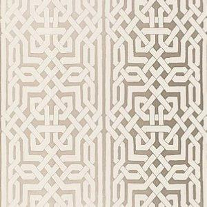 Schumacher Morocco Silver Wallpaper