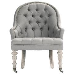 Tristan Gray Tufted Club Chair
