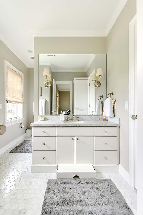 Bathroom Vanity With Built In Pull Out Step Transitional