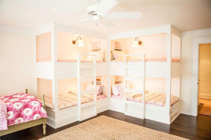 L Shaped Bunk Beds Cottage Girl S Room
