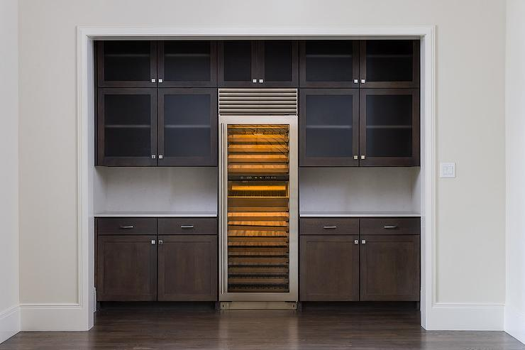 Kitchen Alcove With Wine Cooler Transitional Kitchen