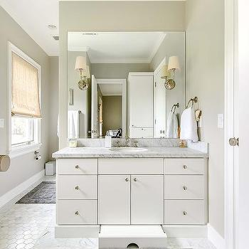 bathroom vanity with built in pull out step