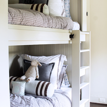 Built In Bunk beds with Beadboard Trim, Cottage, Boy's Room