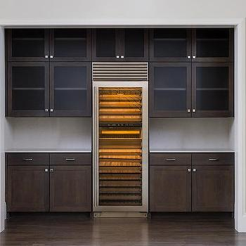 Kitchen Alcove With Wine Cooler