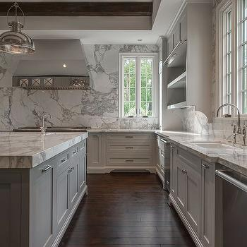 Sink Flanked by Dishwashers, Transitional, Kitchen