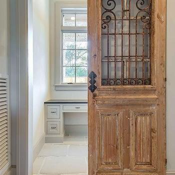 Interior design inspiration photos by elizabeth garrett interiors for Distressed wood interior doors