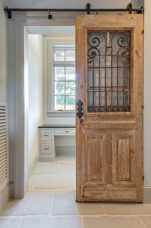 Reclaimed wood office door on rails design ideas for Recycled interior doors
