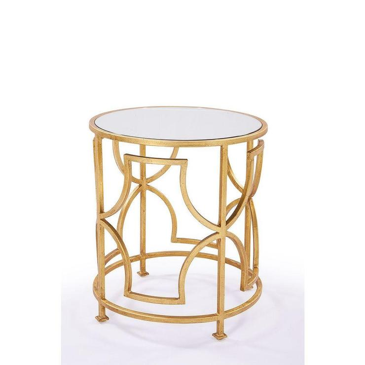 Albertine Gold Side Table