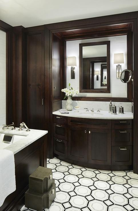 Bathroom with espresso cabinets transitional bathroom for Espresso bathroom ideas
