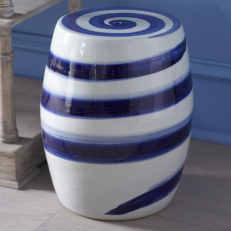 Chinese Blue And White Ceramic Stool