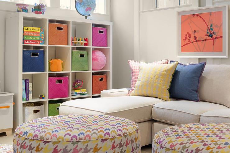 Basement Playroom Storage Ideas Contemporary Basement