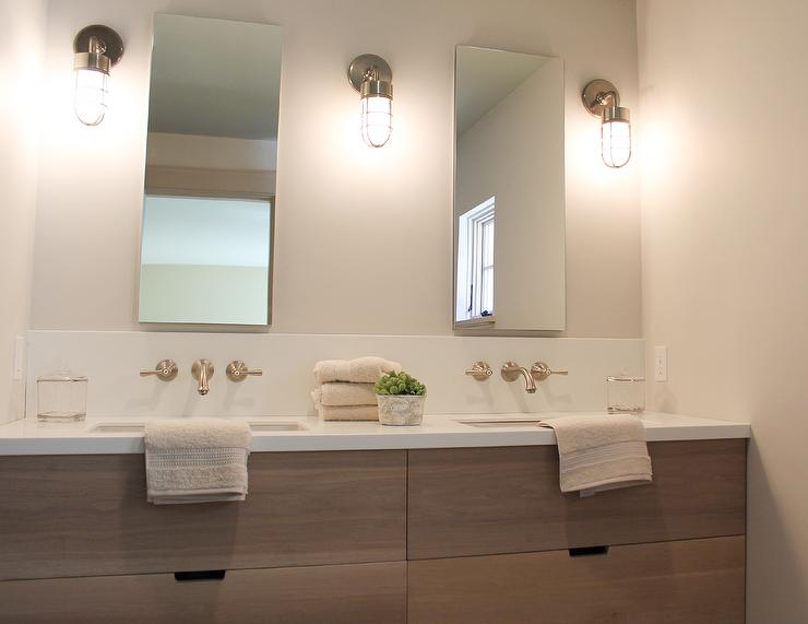 Bathroom Vanity Veneer walnut veneer vanity design ideas