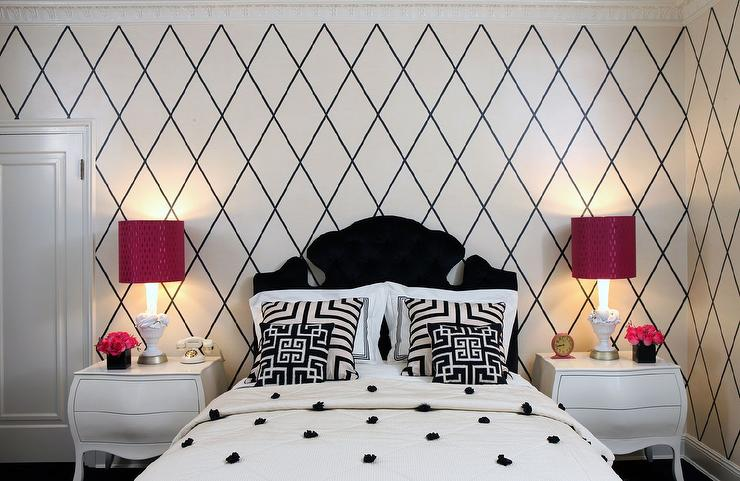 Kids Bedroom Black And White black and white kids bedrooms - contemporary - girl's room