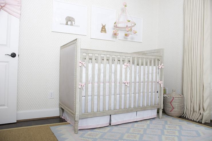 Nursery With Gray French Crib View Full Size