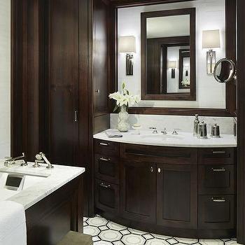 Bathroom with Espresso Cabinets, Transitional, Bathroom