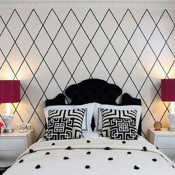Black and White Kids Bedrooms, Contemporary, Girl's Room
