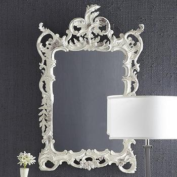 Ivory Baroque Mirror