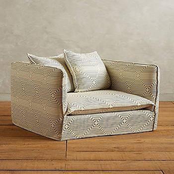 Striped Carlier Sofa