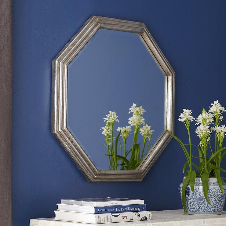 Silver Octagon Mirror
