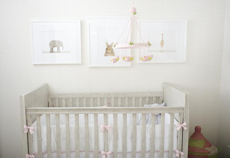 Over the crib art transitional nursery for Above the crib decoration ideas