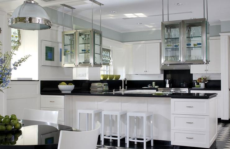 attractive How To Hang Kitchen Cabinets From Ceiling #6: see through kitchen cabinets design ideas