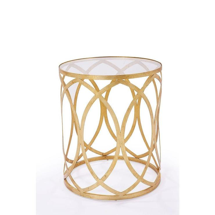 Vintage York Gold Side Table