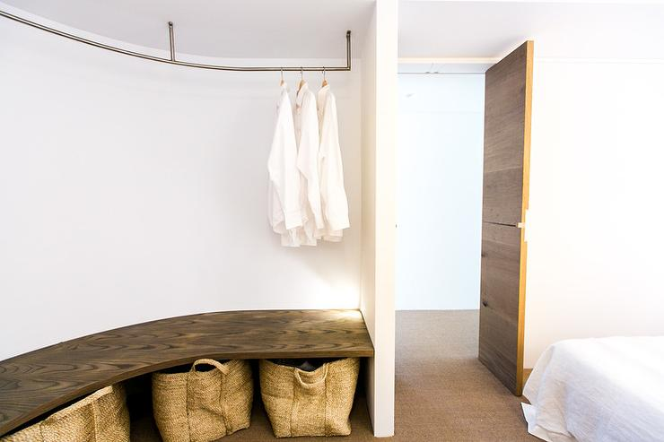 Bedroom With Curved Closet