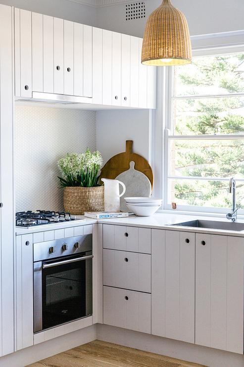 Ikea Beadboard Kitchen Cabinets Kitchen with Beadboard Cabinets   Cottage   Kitchen