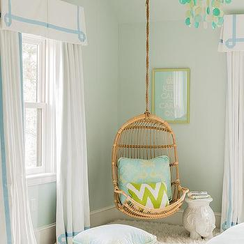 Blue and Green Teen Girls Room, Transitional, Girl's Room