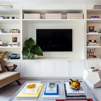 Living Room With Built In Media Center