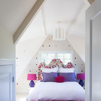 Kids Headboard in Front of Window, Contemporary, Girl's Room