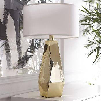 Gilt Poly Lamp