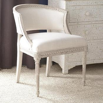 Blue And White Gustavian Tub Chair
