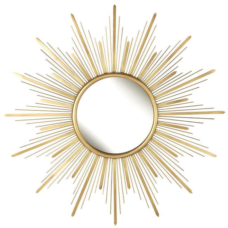 Starburst Wall Decor Mirror: Gold Starburst Metal Wall Mirror