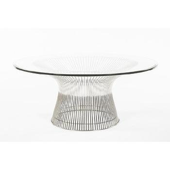 The Fishburne Glass and Stainless Steel Coffee Table