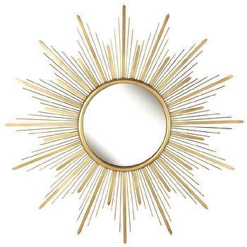Gold Starburst Metal Wall Mirror
