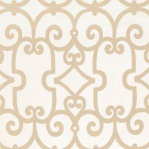 Schumacher Manor Gate Sand Fabric