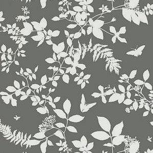 Schumacher Shadow Vine Charcoal Wallpaper