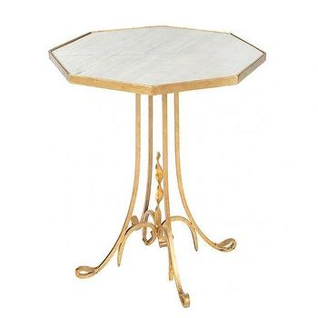 Aidan Gray Lund Side Table in Gold
