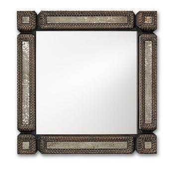 Currey & Company Tramp Art Wall Mirror
