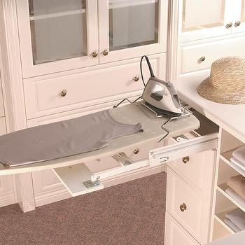 Closet Island With Pull Out Ironing Board