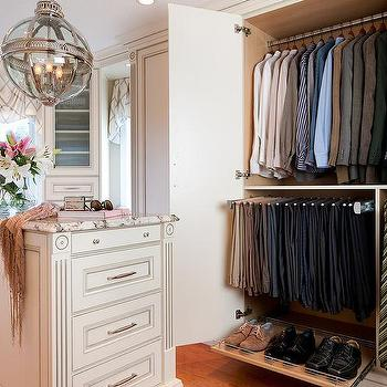 Clsoet with Pull Out Pant Rack, Transitional, Closet