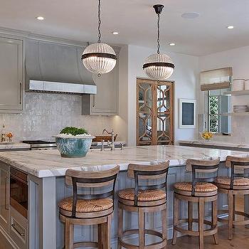 gray glazed kitchen tiles transitional kitchen. Black Bedroom Furniture Sets. Home Design Ideas