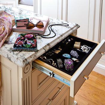 Closet Island with Jewelry Drawer, Transitional, Closet