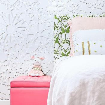 Kids Room with 3D Wall Panels, Contemporary, Girl's Room