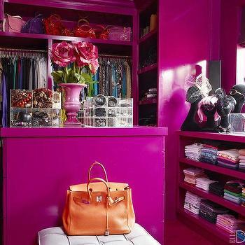 Purple Walk In Closets, Contemporary, Closet