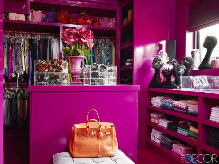 Purple Walk In Closets Contemporary Closet