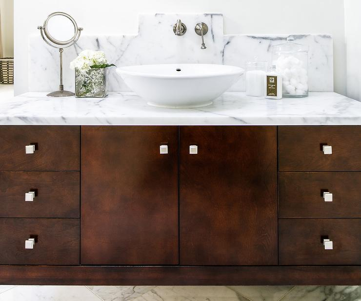 Bathroom Vanity Knobs dark brown bathroom vanity design ideas