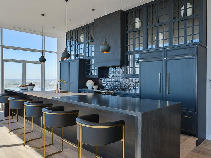 Contemporary black kitchen design contemporary kitchen for Black contemporary kitchen